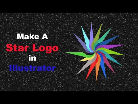 Professional Vintage Logo Design - Adobe Illustrator cs6 cc (colorful star) [RVS]