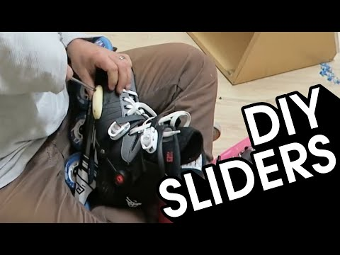 INLINE SKATING HACK - HOW TO MAKE DIY SLIDERS WITH OLD SKATE WHEELS // VLOG 164