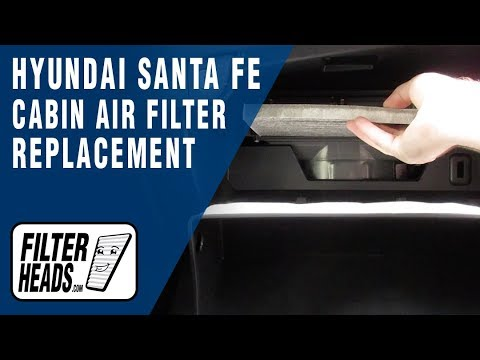 How to Replace Cabin Air Filter 2017 Hyundai Santa Fe