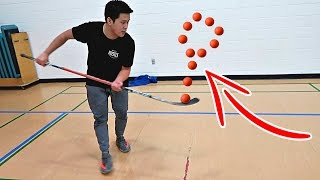 IMPOSSIBLE HOCKEY TRICK SHOTS CHALLENGE!!!