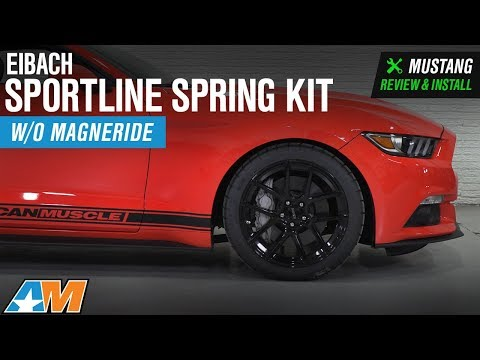 2015-2018 Mustang EcoBoost & V6 without MagneRide Eibach Sportline Spring Kit Review & Install