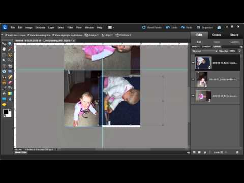 Multiple photos on a 4x6 canvas in Photoshop Elements