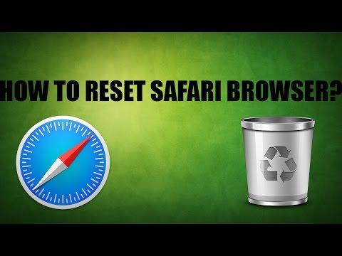 How To Reset Safari-MacOs Sierra 2016
