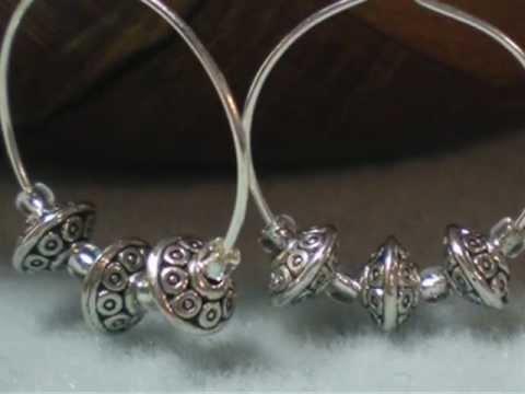 How to Make Simple Silver Hoop Earrings