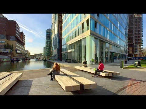 LONDON WALK | Paddington Station to Edgware Road Station via Paddington Basin | England