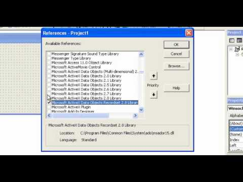 Video 17: VB 6 Programming, Adding Components And References