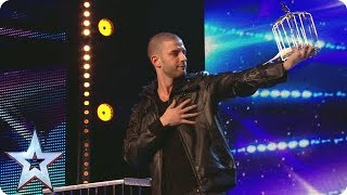 Darcy Oake pulls a birdcage from NOWHERE   Britain