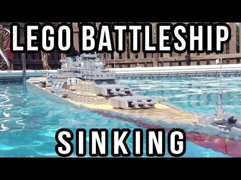 LEGO Battleship Missouri Sinking【Up Close Shot】