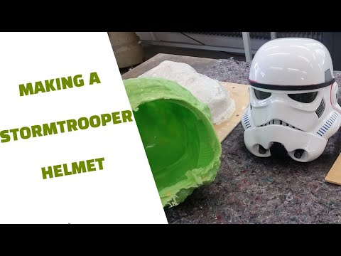 making a Star Wars Stormtrooper helmet brush on mold and casting