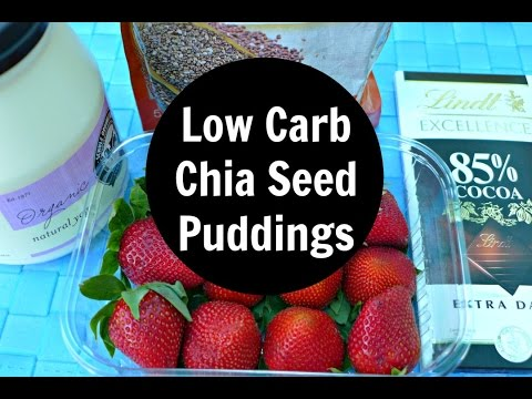 How To Make Low Carb Chia Seed Puddings - Chocolate, Raspberry & More Options