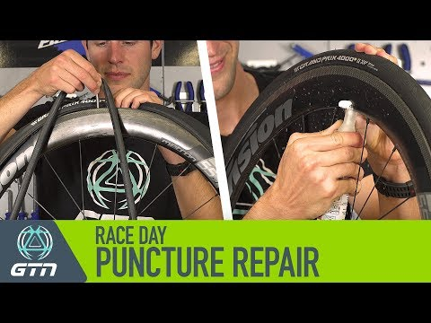 How To Fix A Bike Puncture On Race Day | Inner Tube Replacement Or Tyre Sealant?