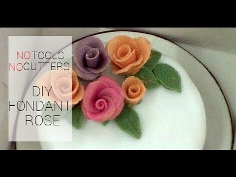 How to Make a Fondant Rose Without Tools or Cutter (For Beginners)