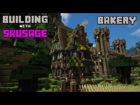 Minecraft - Building with Sausage - Medieval Bakery!!!