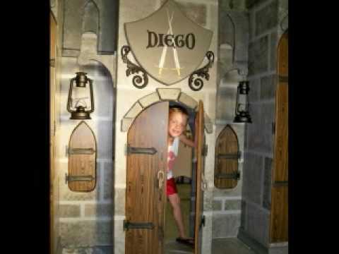 KIDS Playhouse bunk THEME BEDS Castle Pirate House Princess