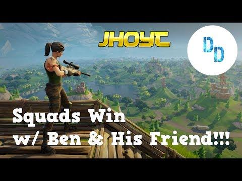 Squads Win w/ Ben!! (Fortnite)