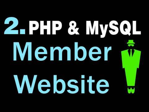 2. How to Create A Basic Membership Website System Using PHP and MySQL Tutorial