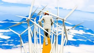 NEARLY IMPOSSIBLE WINDMILL DEATHRUN! (GTA 5 Funny Moments)