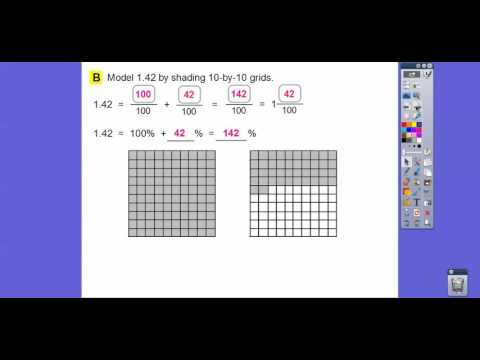 Percents, Fractions, and Decimals - Lesson 8.2