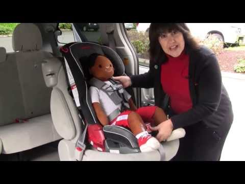 Adjusting the Harness Straps on a Diono Car Seat with Large Harness Pads