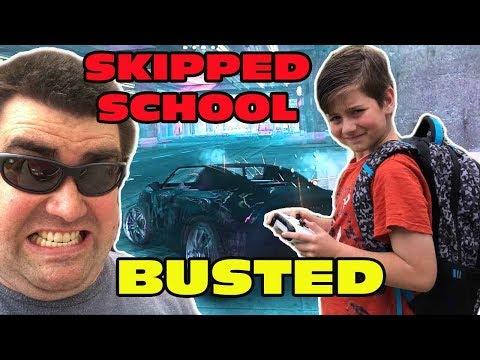 Kid Temper Tantrum SKIPPING SCHOOL to Play GTA 5- BUSTED!!