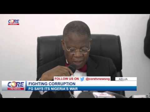 FIGHTING CORRUPTION: FG SAYS ITS NIGERIA'S WAR...A must watch...!