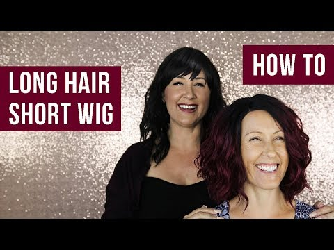 How to Fit Long Hair Into a Short Wig