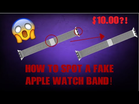 How to SPOT a FAKE APPLE WATCH BAND!