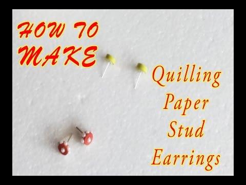Quilling Paper Earings| DIY | WEBLOG27