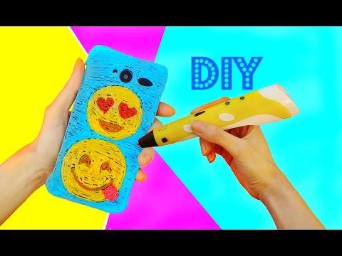 DIY Emojis PHONE CASE with 3D PEN