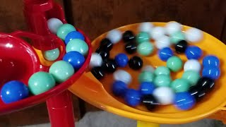 Overflowing A Marble Run With Marbles!!!