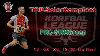 TOP/SolarCompleet  tegen PKC/SWKGroep, zaterdag 15 februari 2020