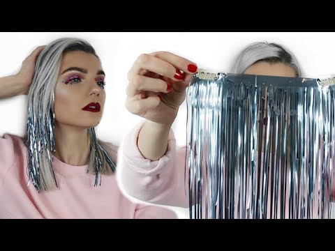 How To Make Tinsel Hair Extensions | Party Hair Tutorial | LoveFings