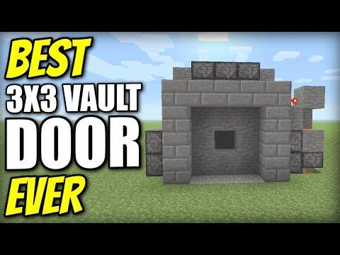 Minecraft PS4 - 3x3 VAULT DOOR [ BEST EVER ] Redstone Tutorial - PE / Xbox / PS3 / Switch