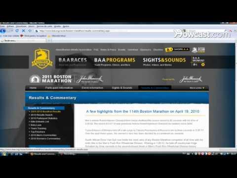 How to Find Boston Marathon Results