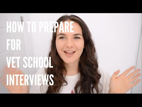HOW TO PREPARE FOR VET SCHOOL INTERVIEWS / MED SCHOOL