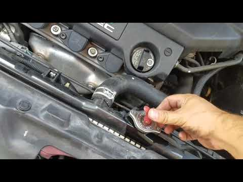 How to flush coolant out on Acura TL