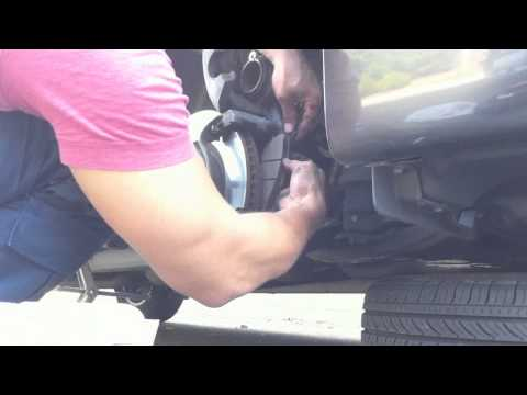 How to change the front brake pads on a toyota camry