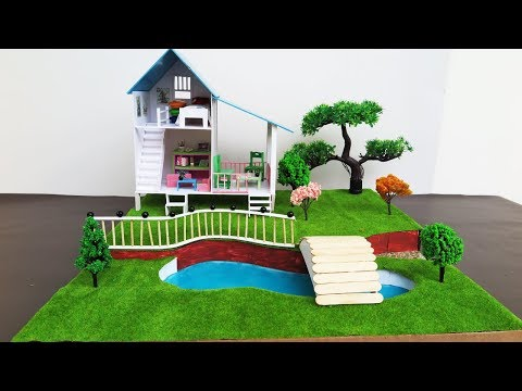DIY Miniature Doll House With Beautiful Fairy Garden  -  Crafts For Kids