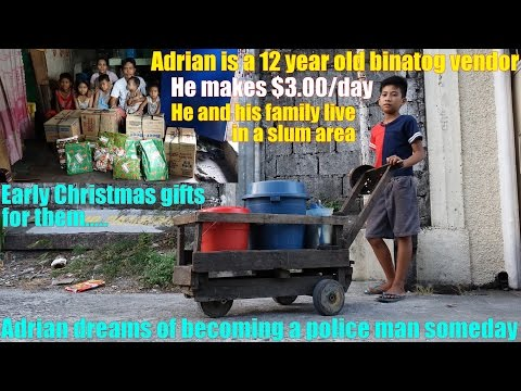 Travel to Manila Philippines and Meet this Poor Family. Let's Make Them Happy with these Gifts