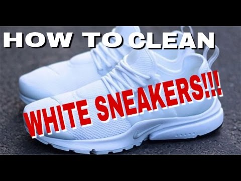 How to Clean White Sneakers (Nike Prestos)