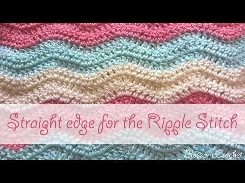 How to crochet a straight edge on a Ripple Stitch / Blanket