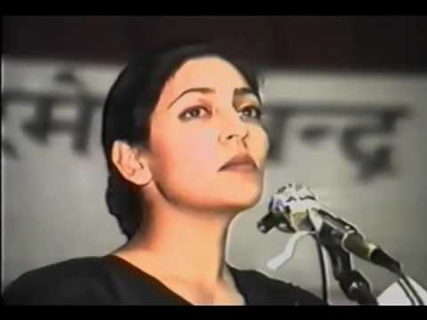 DEEPTI NAVAL RECITES her poems from LAMHA LAMHA