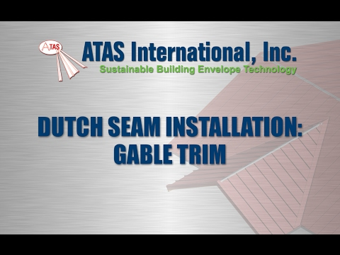 Metal Roof Installation: Gable Trim