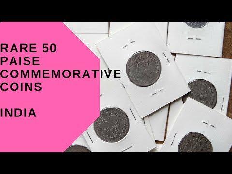 Rare 50 paise commemorative coins INDIA