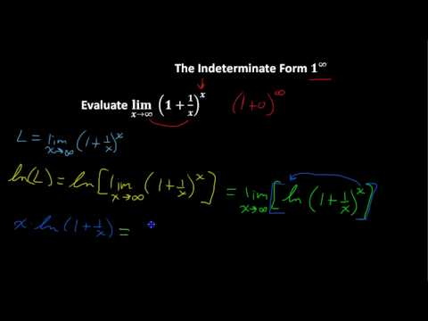 Indeterminate Form 1 to Infinity