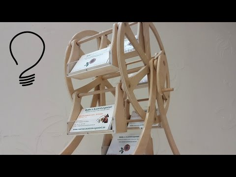 Making a Ferris Wheel - Business Card Stand