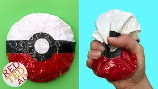 Download Pokeball Paper Squishy - DIY Pokemon Squishy - How to make a squishy no foam Video