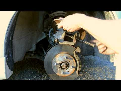 How To: Change front brakes, pads and rotors, Honda Fit (2007)