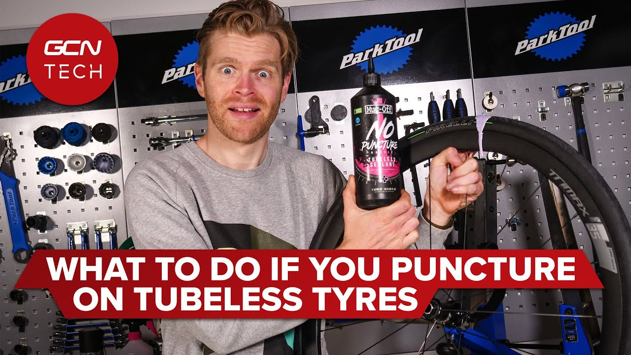 How To Fix A Punctured Tubeless Tyre   GCN Tech Puncture Repair Guide