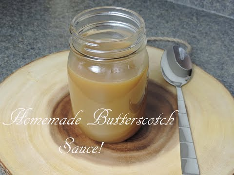 Homemade Butterscotch Sauce! (Ice Cream Topping) | Ep #150
